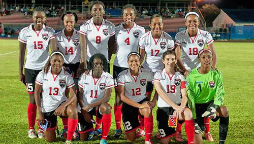 Photo: The Trinidad and Tobago national under-20 women's starting team that faced the United States. (Courtesy CONCACAF.com)