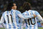 Carlos Tevez and Lionel Messi