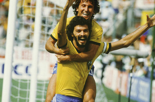 Photo: Former Brazil legends and 1982 World Cup stars Zico (top) and the late Socrates.