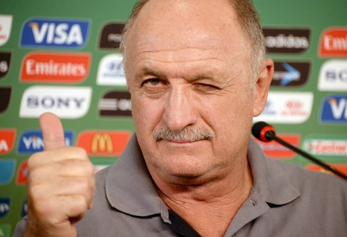 Photo: Brazil coach Luiz Felipe Scolari. (Courtesy Vanderlei Almeida/ AFP)
