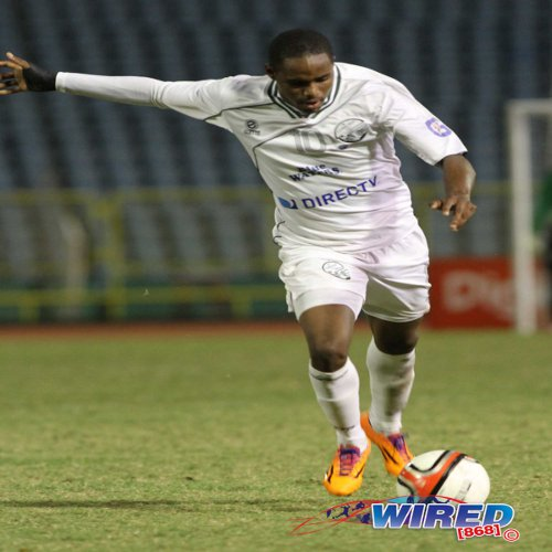 Photo: W Connection star Joevin Jones scored twice tonight against St Ann's Rangers. (Courtesy Wired868)