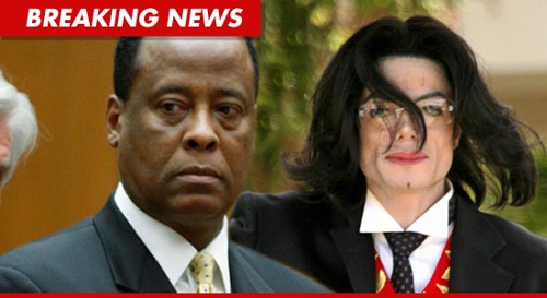 Photo: Dr Conrad Murray (left) and his famous former patient, Michael Jackson, who he was convicted of killing in an involuntary manslaughter case.