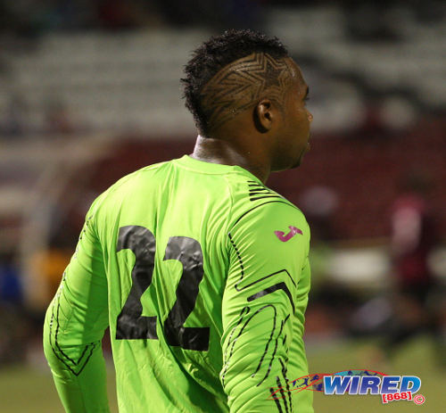 Photo: North East Stars captain and custodian Cleon John kept another clean sheet at the Ato Boldon Stadium yesterday. (Courtesy Wired868)