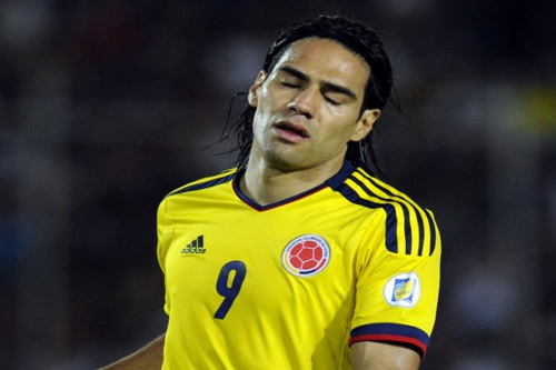 "Photo: Colombia striker Radamel Falcao will not face the ""Soca Warriors"" in June. (Copyright AFP 2014/Leo Ramirez)"