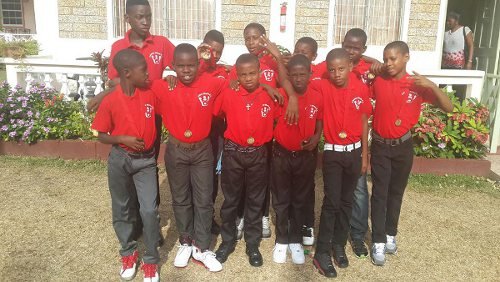 Photo: One of the present Crown Trace FC youth teams.