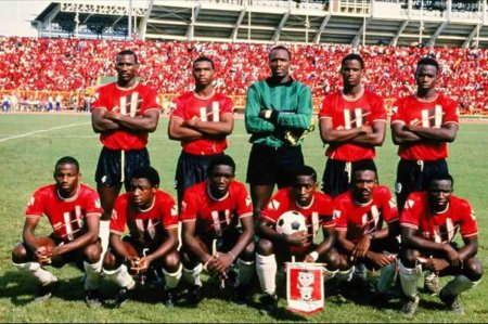 "Photo: Trinidad and Tobago's famous 1989 ""Strike Squad"" came within a point of the 1990 World Cup. (Courtesy TTfootballhistory.com)"