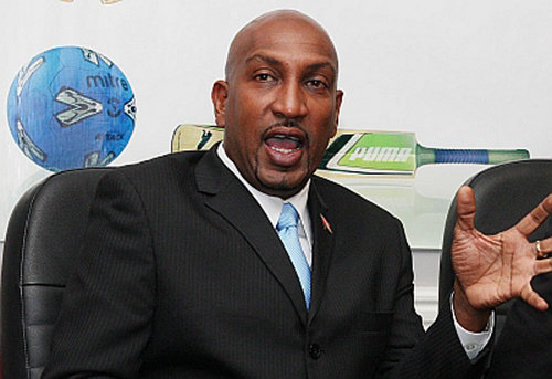 Photo: Sport Minister Anil Roberts.