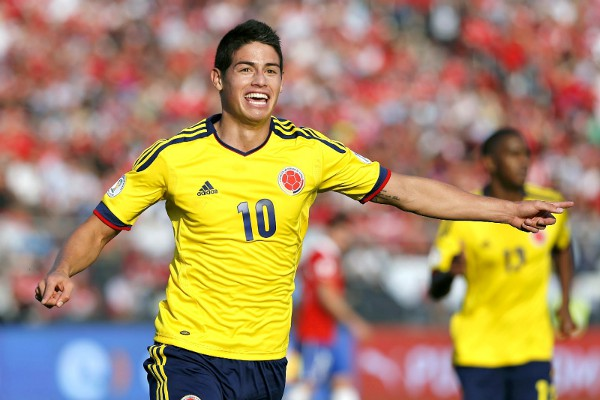 Photo: Colombia midfield ace James Rodriguez.