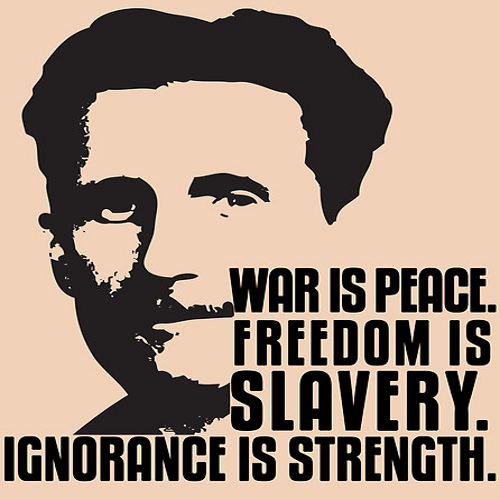 Photo: Quote from George Orwell's 1984.