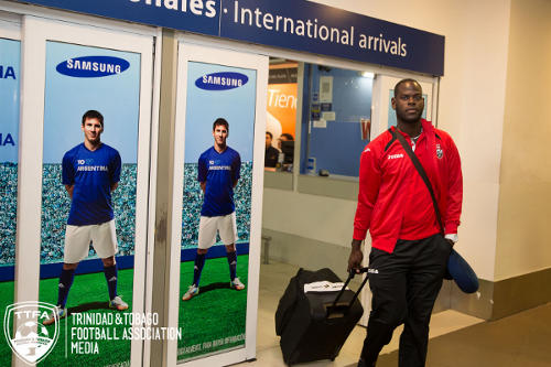 Photo: Trinidad and Tobago goalkeeper Jan-Michael Williams landed in Buenos Aires without the benefit of his goalkeeper coach Michael Maurice. (Courtesy Allan V Crane/TTFA)