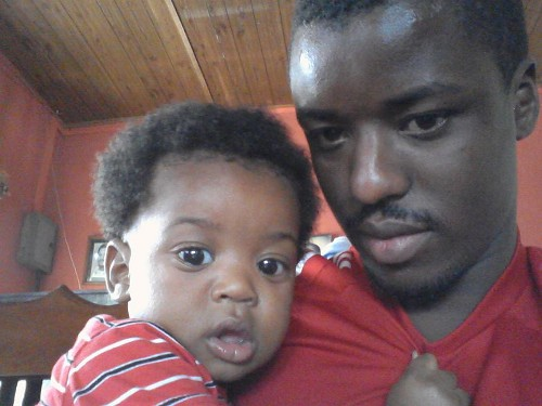 Photo: Trinidad and Tobago national football team goalkeeper Marvin Phillip (right) and his 10-month-old son Matai. Matai Phillip was found dead at his daycare today.
