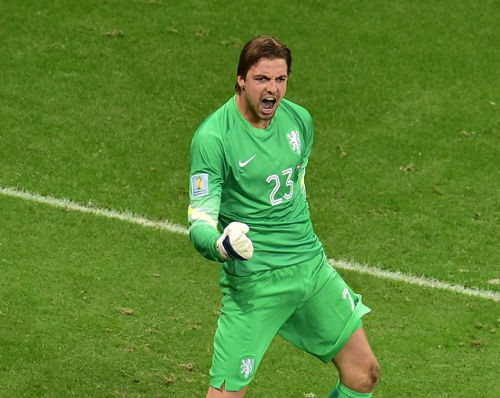 Photo: Netherlands goalkeeper and super-sub Tim Krul. (Copyright AFP 2014/Gabriel Bouys)