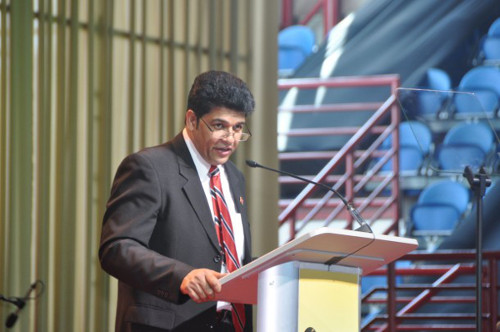 Photo: COP political leader and Minister of Legal Affairs Prakash Ramadhar led the People's Partnership push for constitutional reform.