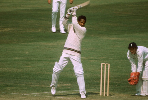 Photo: Former West Indies world record holder and captain Sir Garry Sobers goes on the attack.