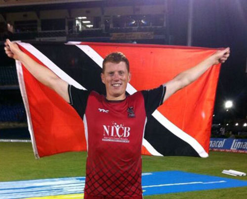 Photo: Trinidad and Tobago Red Steel and Ireland international cricketer Kevin O'Brien.