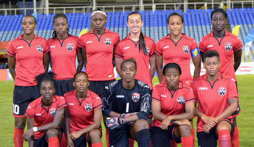 Photo: The Trinidad and Tobago starting team for the 2014 Caribbean Cup final against Jamaica. (Courtesy Jinelle James/WOLF)