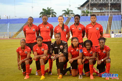 Photo: The Trinidad and Tobago starting line-up to face Martinique on Sunday night. (Courtesy Jinelle James/Wired868)