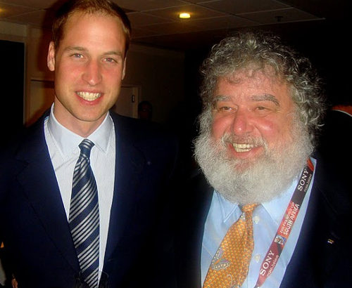 Photo: Prince Willam (left) and former CONCACAF general secretary Chuck Blazer (Courtesy transparencyinsport.org)