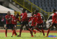 Trinidad and Tobago national under-20 midfielder Jabari Mitchell celebrates