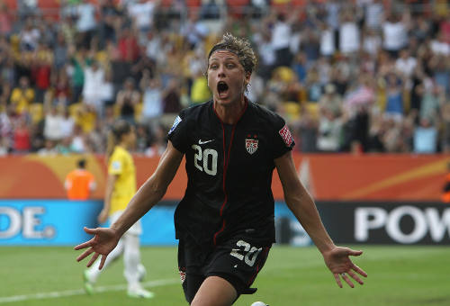 Photo: Legendary United States scorer Abby Wambach.