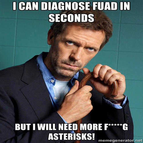 Photo: Dr House has a diagnoses to share.