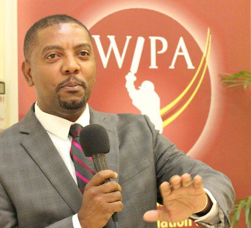 Photo: West Indies Cricket Board (WICB) president Dave Cameron during a function at WIPA's office in Jamaica in 2014. (Courtesy WIPA)
