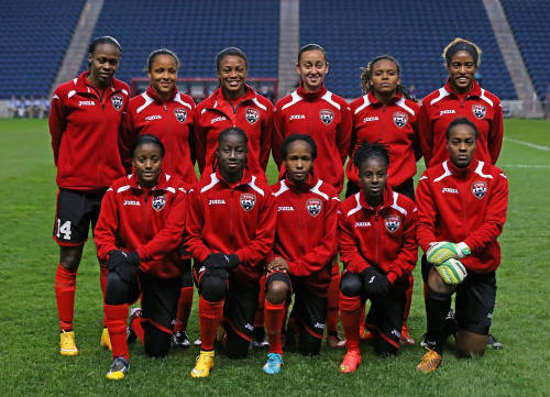 Photo: The Trinidad and Tobago national starting team to face Haiti in World Cup qualifying action. (Courtesy TTFA Media)