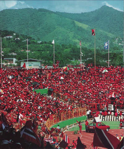 Photo: The Port of Spain National Stadium on 19 November 1989 during World Cup qualifying action between Trinidad and Tobago and the United States.