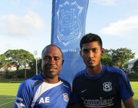 Photo: Naps coach Angus Eve, (left) and captain Amritt Gildharry. (right) (Courtesy: Carol Kolahal/Wired868)