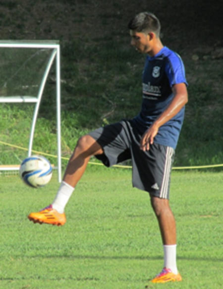 Photo: Naparima Boys College captain Amritt Gildharry during a practice session. (Courtesy: Carol Kolahal/Wired868)
