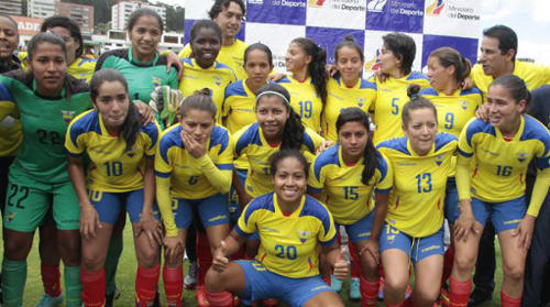 Photo: The Ecuador national women's team is on the verge of a maiden World Cup spot. But its players have not captured the hearts of their people just yet. (Courtesy El Comercio)