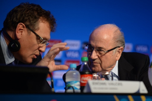 Photo: FIFA president Sepp Blatter (right) and general secretary Jerome Valcke.