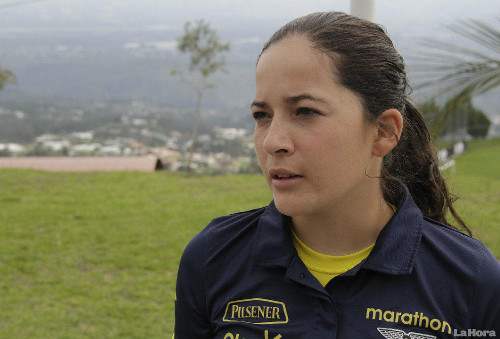 Photo: Ecuador coach Vanessa Arauz. (Courtesy La Hora)