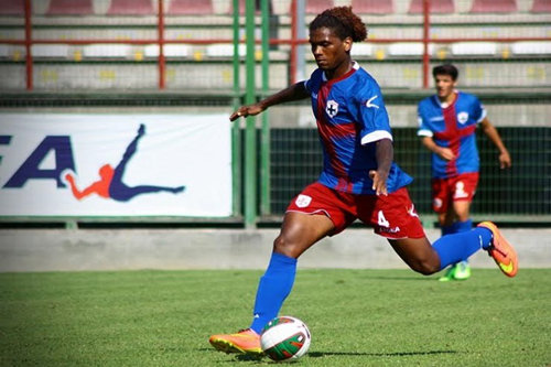Photo: Former W Connection midfielder Zaine Pierre in action for Aversa Normanna in Serie C. Pierre, a St Lucia international, was signed by Genoa FC in 2012.