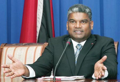 Photo: Former Attorney General Anand Ramlogan was fired after a Trinidad Express expose into his improper contact with PCA chairman David West. (Courtesy HeritageRadioTT)