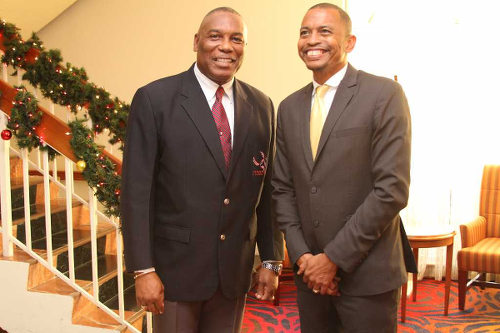 Photo: TTOC president Brian Lewis (right) and NAAA president Ephraim Serrette. (Courtesy NAAA/LoopTT)