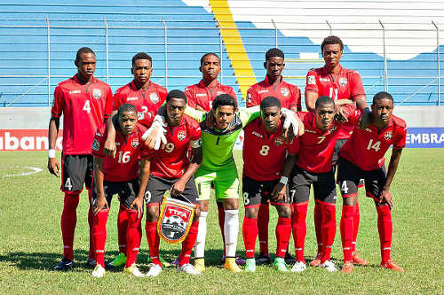 Photo: The Trinidad and Tobago National Under-17 Team poses for a photograph before the CONCACAF opener against Guatemala on 27 February 2015. (Courtesy CONCACAF)