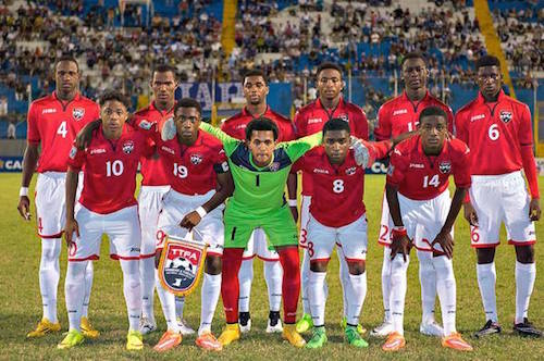 Photo: The Trinidad and Tobago National Under-17 Team prepares for kick off against the United States in CONCACAF competition. (Courtesy MexSport/CONCACAF)