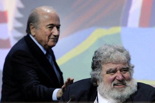Photo: FIFA president Sepp Blatter (left) and ex-CONCACAF general secretary Chuck Blazer. (Copyright AFP 2015)
