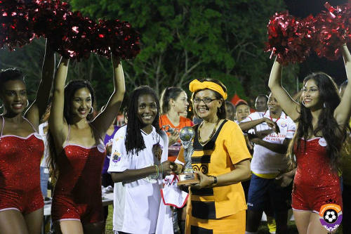 Photo: Angels and Jamaica midfielder Jodi-Ann McGregor was the WPL's MVP. (Courtesy Sinead Peterds/WPL)