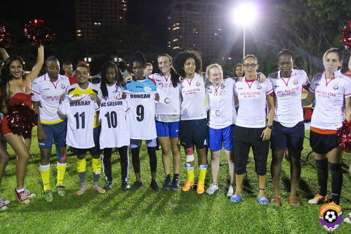 Photo: Linda (fifth from right) in the WPL All stars team. (Courtesy: Sinead Peters/Wired868.)