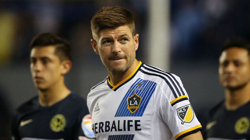 Photo: LA Galaxy star Steven Gerrard was a no-show yesterday. (Copyright ESPN)