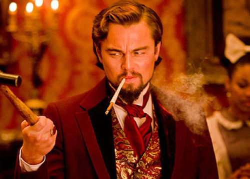 "Photo: Actor Leonardo Di Caprio plays Calvin Candie, a colonial slave owner in the movie ""Django Unchained."" (Copyright Django Unchained)"