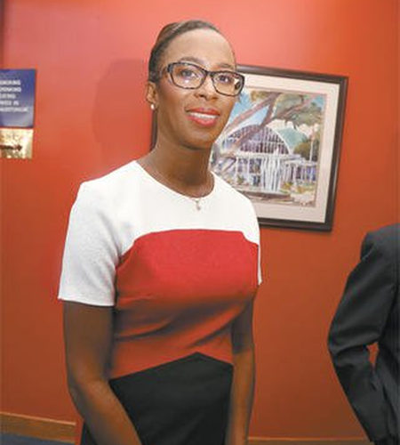 Photo: Minister of Energy Nicole Olivierre.