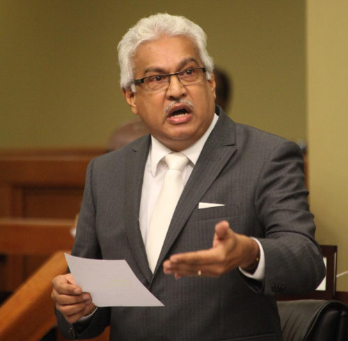 Photo: Health Minister Terrence Deyalsingh was not floored by his first-hand experience of his hospitals. (Copyright Elections.TT)