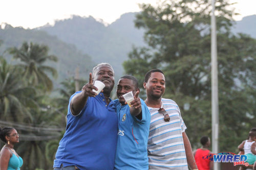 Photo: Spectators enjoy the action between Real Maracas and Club Sando in a CNG National Super League game at the Maracas Recreation Ground. (Courtesy Sinead Peters/Wired868)
