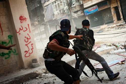 Photo: Armed conflict in Syria. (Copyright James Lawler Duggan)