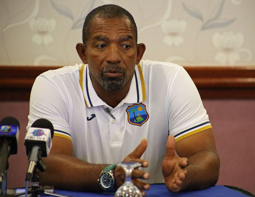 Photo: Suspended West Indies cricket team coach Phil Simmons. (Copyright Phillip Spooner/WICB Media)