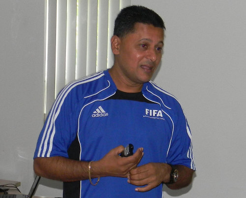 Photo: Former FIFA World Cup referee Ramesh Ramdhan.