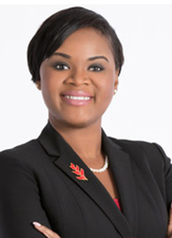 Photo: Shamfa Cudjoe, the minister now in charge of tourism. (Courtesy Newsgov.tt)